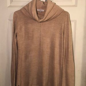 Roz & Ali size S camel colored cowl neck sweater